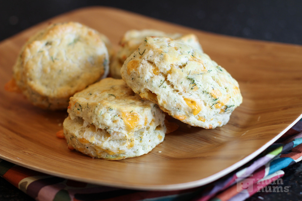 ina garten's cheddar-dill scones on numnums.com