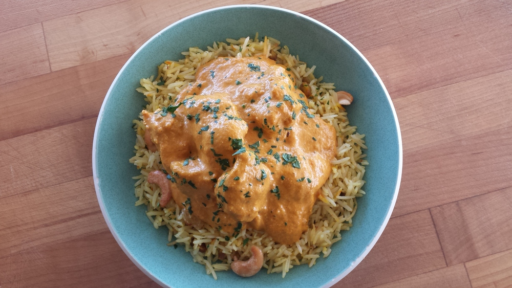 Butter Chicken (Murgh Makhani) with Basmati Rice
