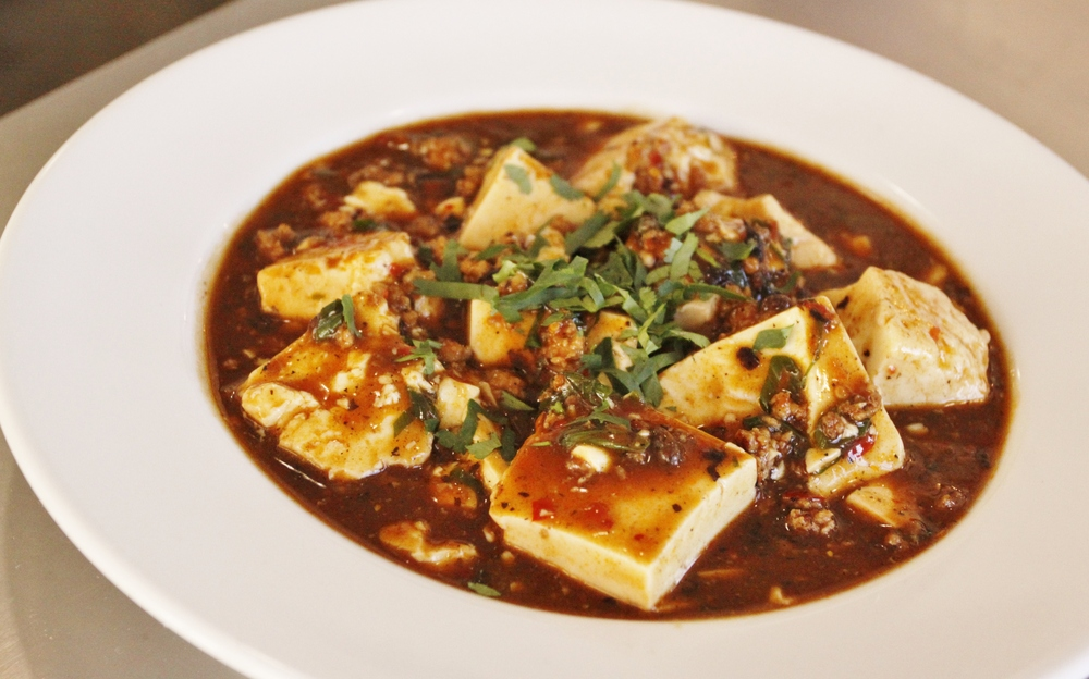 Silken Tofu with Spicy Ground Pork Sauce (Mapo Tofu)