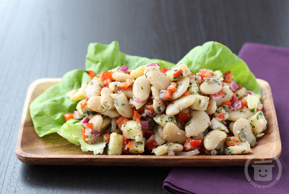marinated butter bean salad