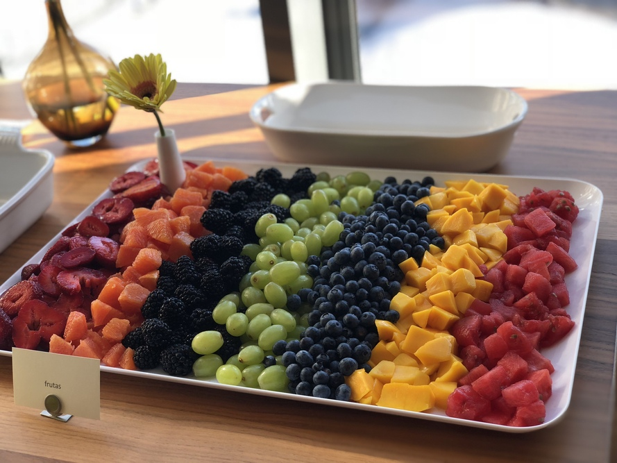 tricked out rainbow frutas platter