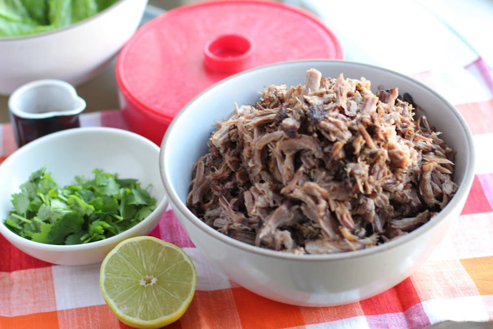 pork shoulder tacos/lettuce wraps