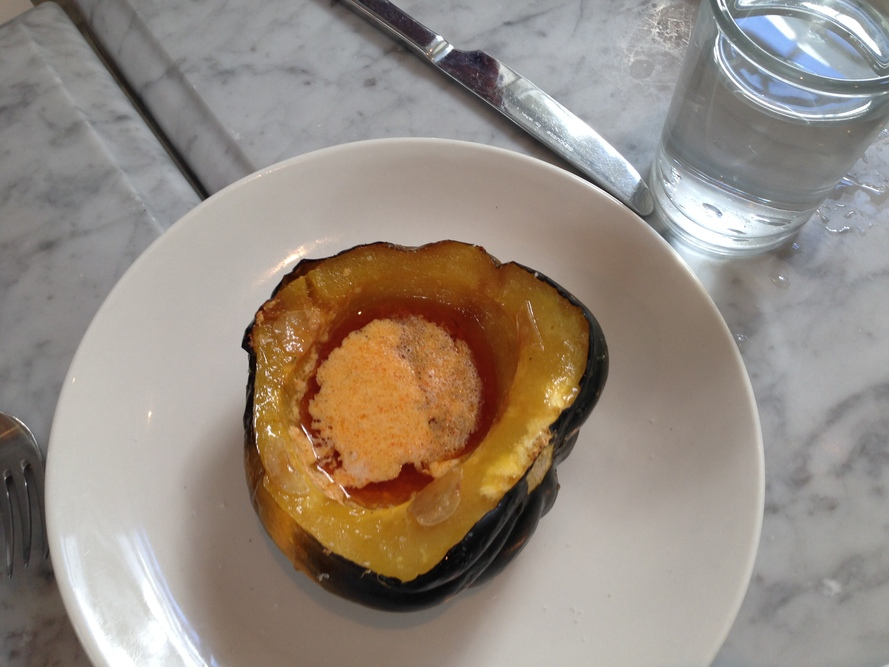 salt air\'s acorn squash with siracha