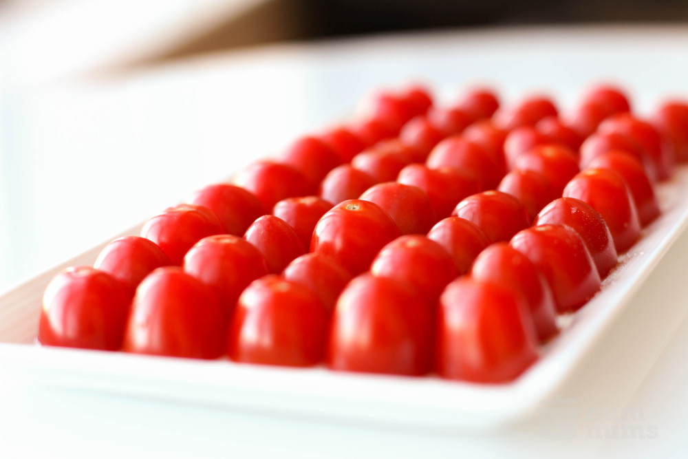 cherry tomatoes with black truffle salt