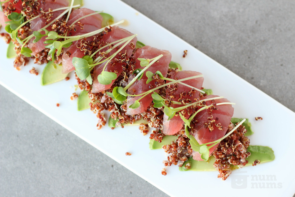 wine kitchen\'s big eye tuna crudo