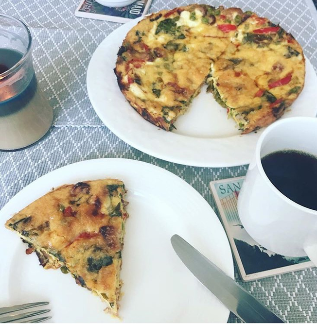 Bacon and Goat Cheese Frittata