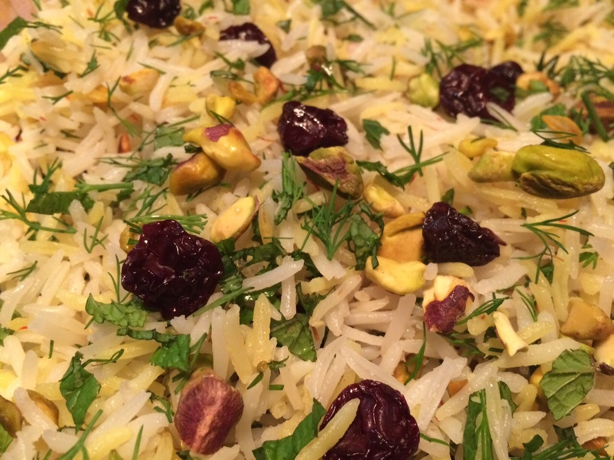 Saffron Rice Pilaf with Tart Cherries, Toasted Pistachios and Herb ...