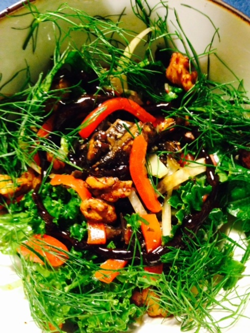 Mushroom and Fennel Salad with Nama Shoyu Glazed Walnuts and Balsamic ...